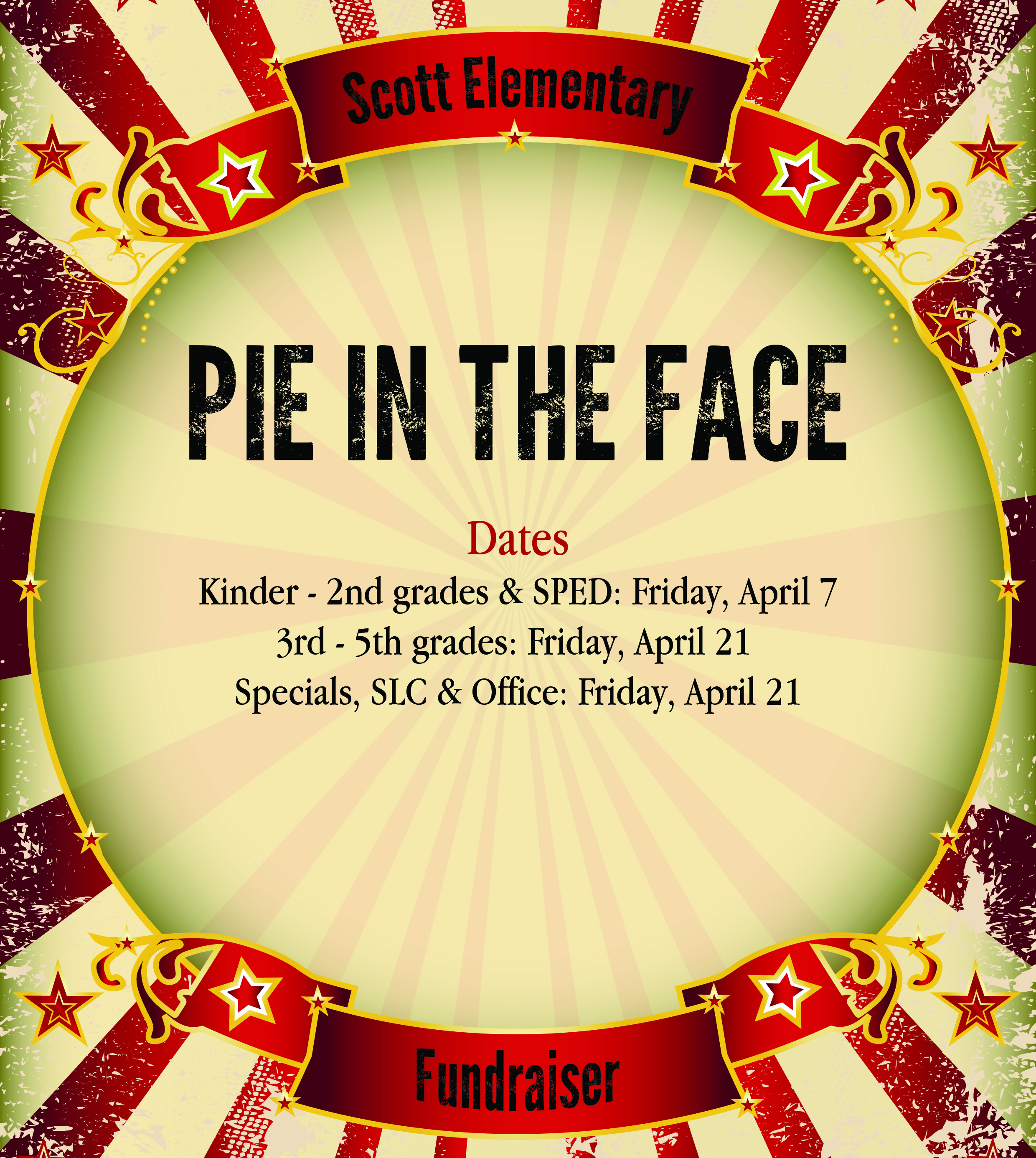 Pie in the Face dates